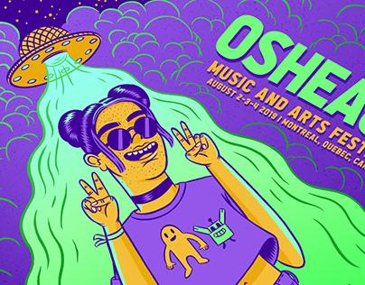 Osheaga Music & Arts Festival 2019 Postcard