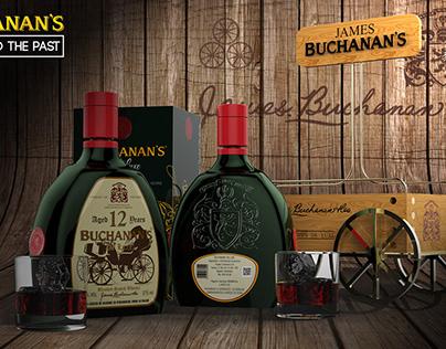 Buchanan's De Luxe 12 Years/ Glass Design
