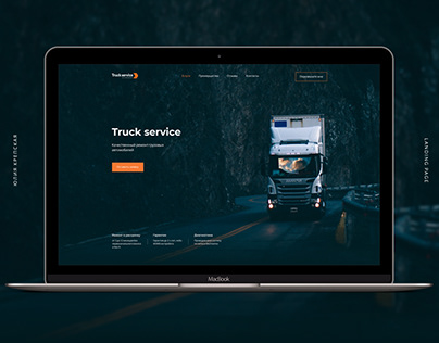 Landing page for truck repair service