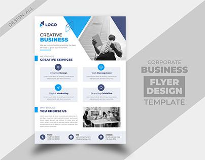 Corporate Business Service Flyer Design Template