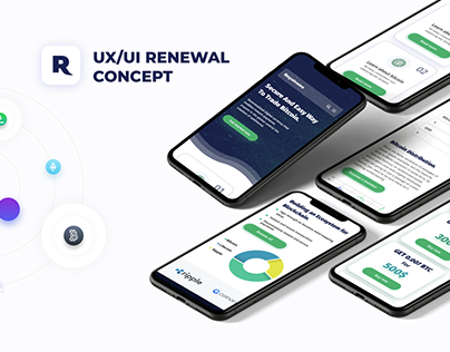 Design for cryptocurrency project Royalcoins