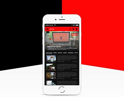 News App - Mobile UI Design