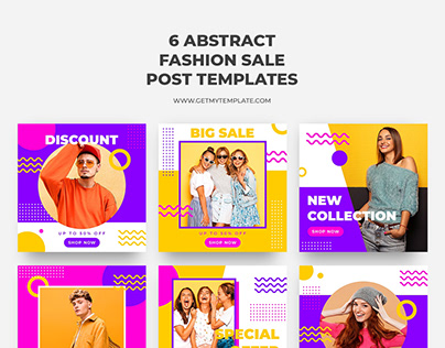 Free 6 fashion sale post templates