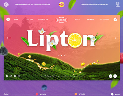 Lipton ( Leaf) Web-design