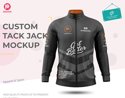 Custom Long Sleeve Track Jacket Mockup