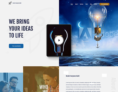 Homepage for a Creative Agency