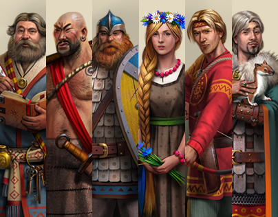 Characters for strategy game