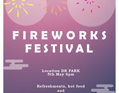 Firework Festival Poster Design