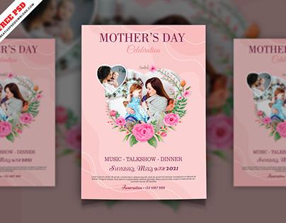 Mother's Day Celebration Flyer Free PSD