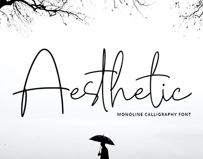 Aesthetic - Monoline Calligraphy Font