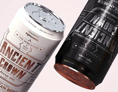 Beer Can Mock-Up Template