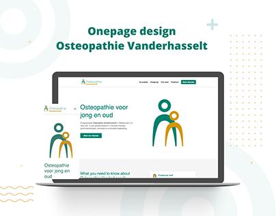 Osteopathy UI/UX design