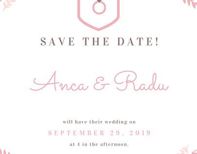 Sample Wedding Announcement Design