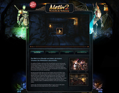 Metin 2 - Community Page (UX/UI)
