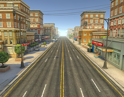 Endless road for mobile games