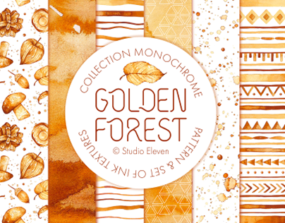 Collection MONOCHROME «Golden Forest»