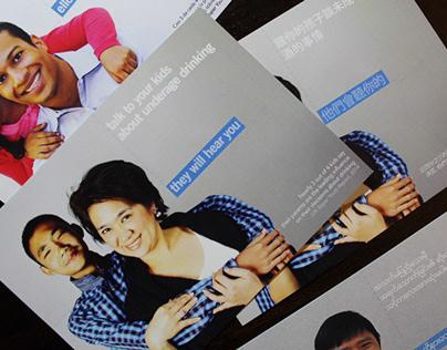 Underage Drinking Postcard Campaign Marketing Design