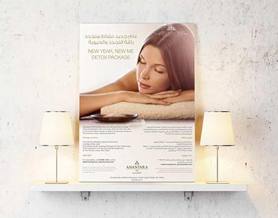 "Marketing materials for the Spa by ""ANANTARA""."