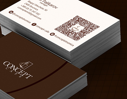 """Concept Cafe"" - B.Card Design"