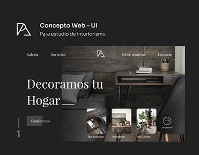 Concepto Web - Estudio De Interiorismo