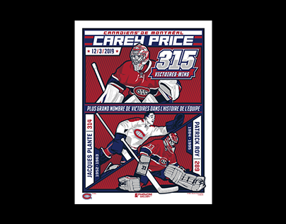 Montreal Canadiens Carey Price 315 Victories Poster