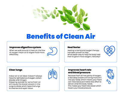 4 Benefits of Clean Air Infographic
