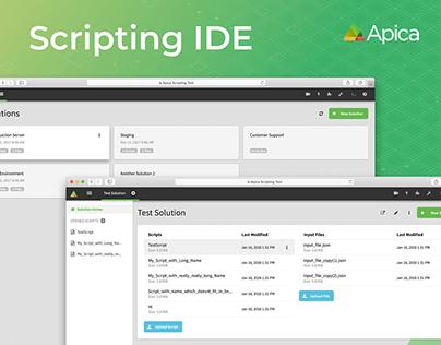 Apica Scripting IDE