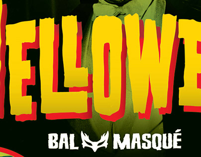 Flyer for Amsterdam Beatclub Helloween Ball Masquee