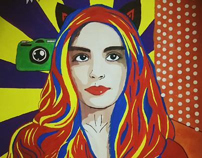 Pop art Autoportrait