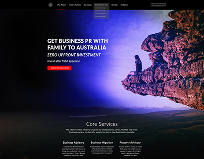 Home page UI design-Phoenix Business Advisory