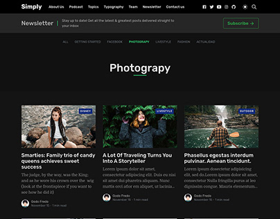 Simply Category Page