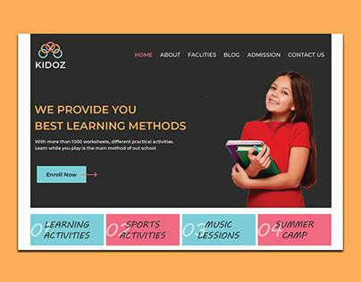Education Banner UI