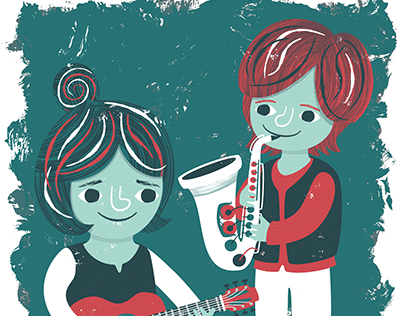 Blues Siblings Illustration