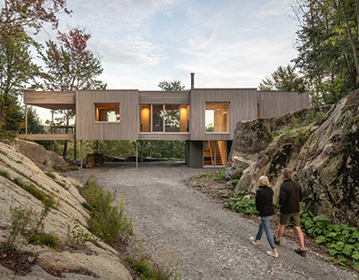 Forest House I in Canada by Natalie Dionne Architecture