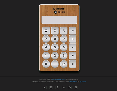 rCalculator - url: ArafatHussein.com/calculator