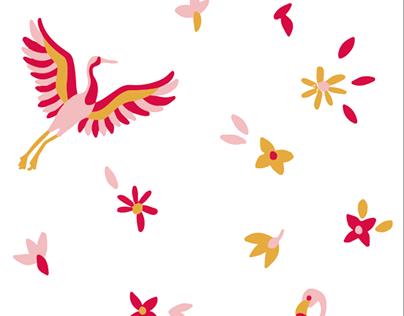 Massimo Dutti (Boys & Girls) / Flamingo and Crane