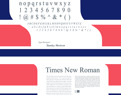Times New Roman Poster and Book