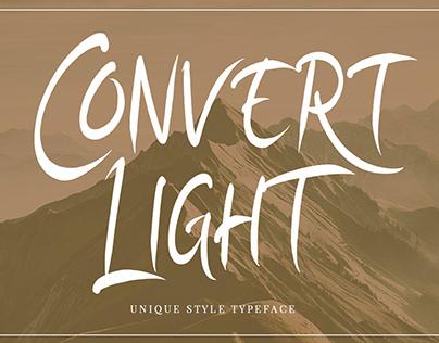 Convert Light | Unique Typeface