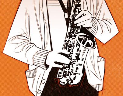 Jazz Saxophonists Trio