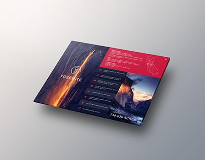 National Parks interactive information brochure UI
