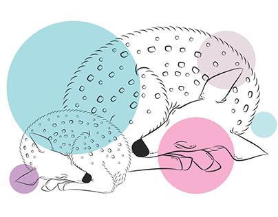 Baby deer print design