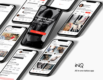 iNQ , all in one tattoo app (UX case study)