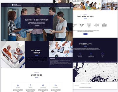 """Business Layout demo for """"Unify Template"""""""