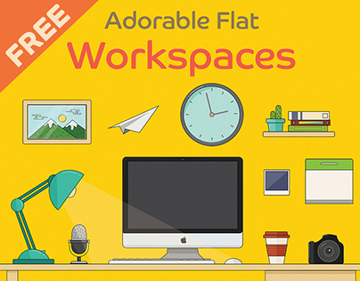 FREE Adorable Flat Workspace