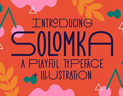 Solomka - Sans Condensed Typeface + Illustration
