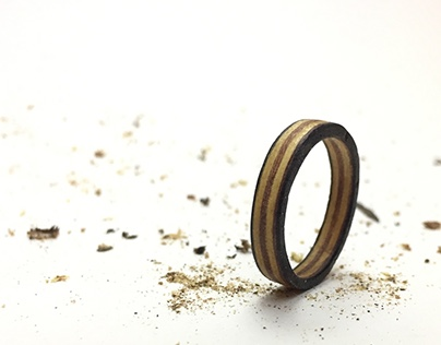 Layered Wood Ring
