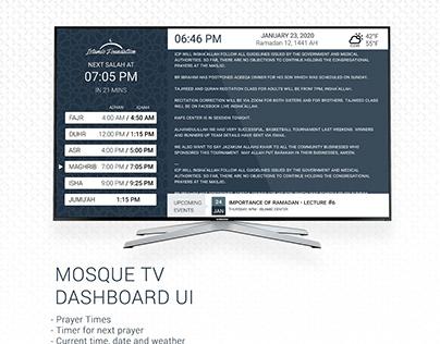TV DASHBOARD DISPLAY UI FOR PRAYER TIMES