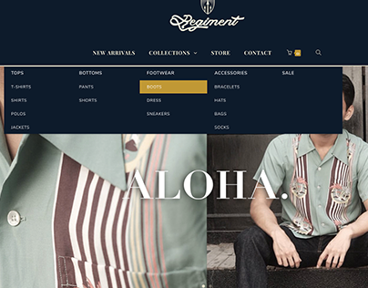 Regiment Menswear - Web Design and Development