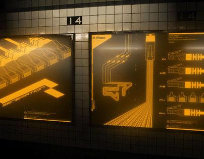 Cyberpunk Metro Ads
