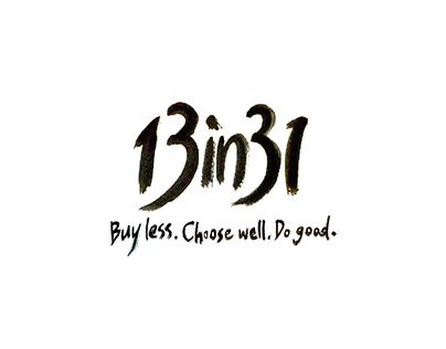 13in31 / Buy less. Choose well. Do good.